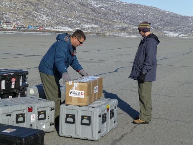 ATM team inspecting cargo