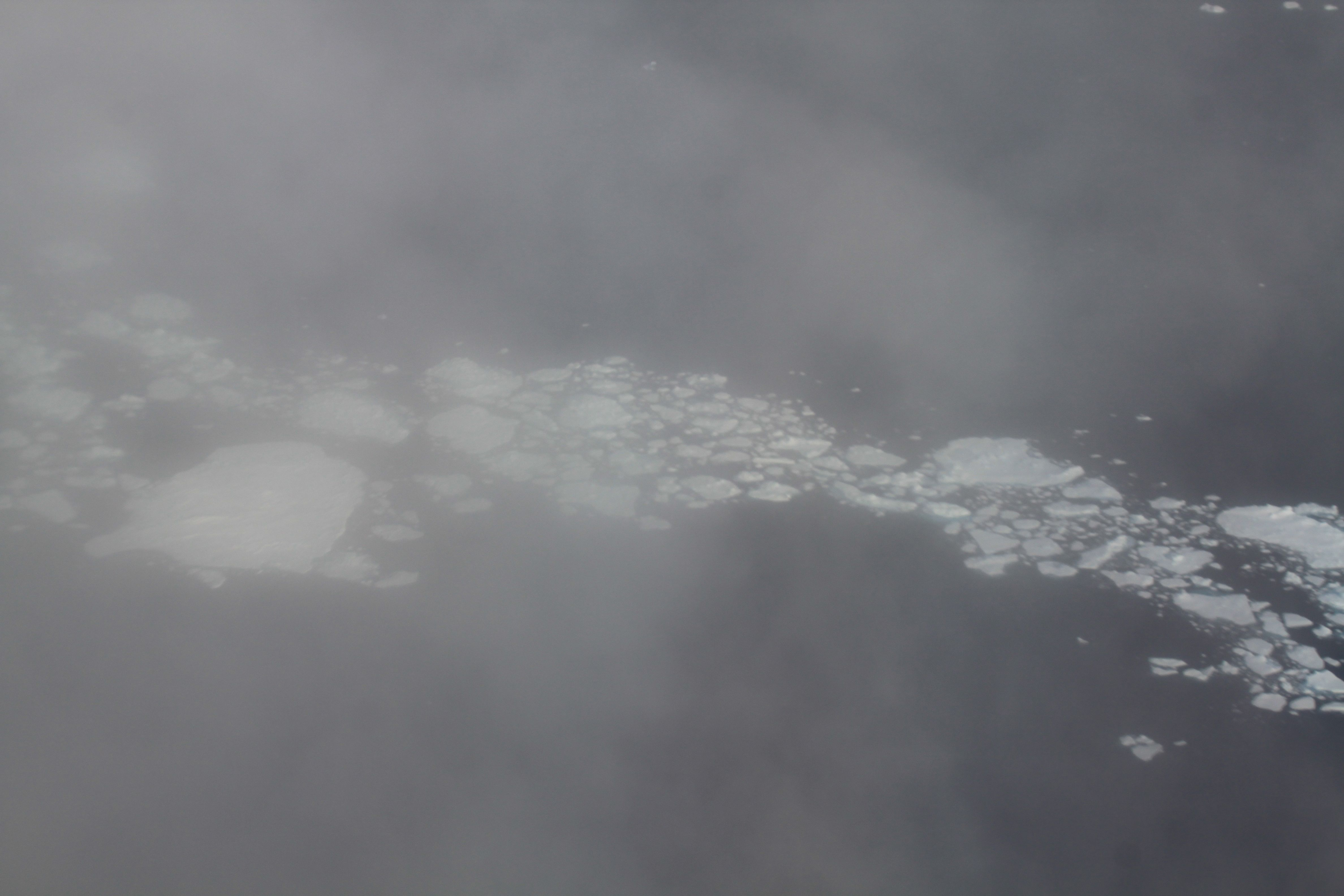 Sea ice through clouds