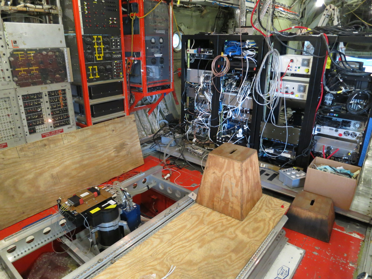 Instrument equipment inside C-130