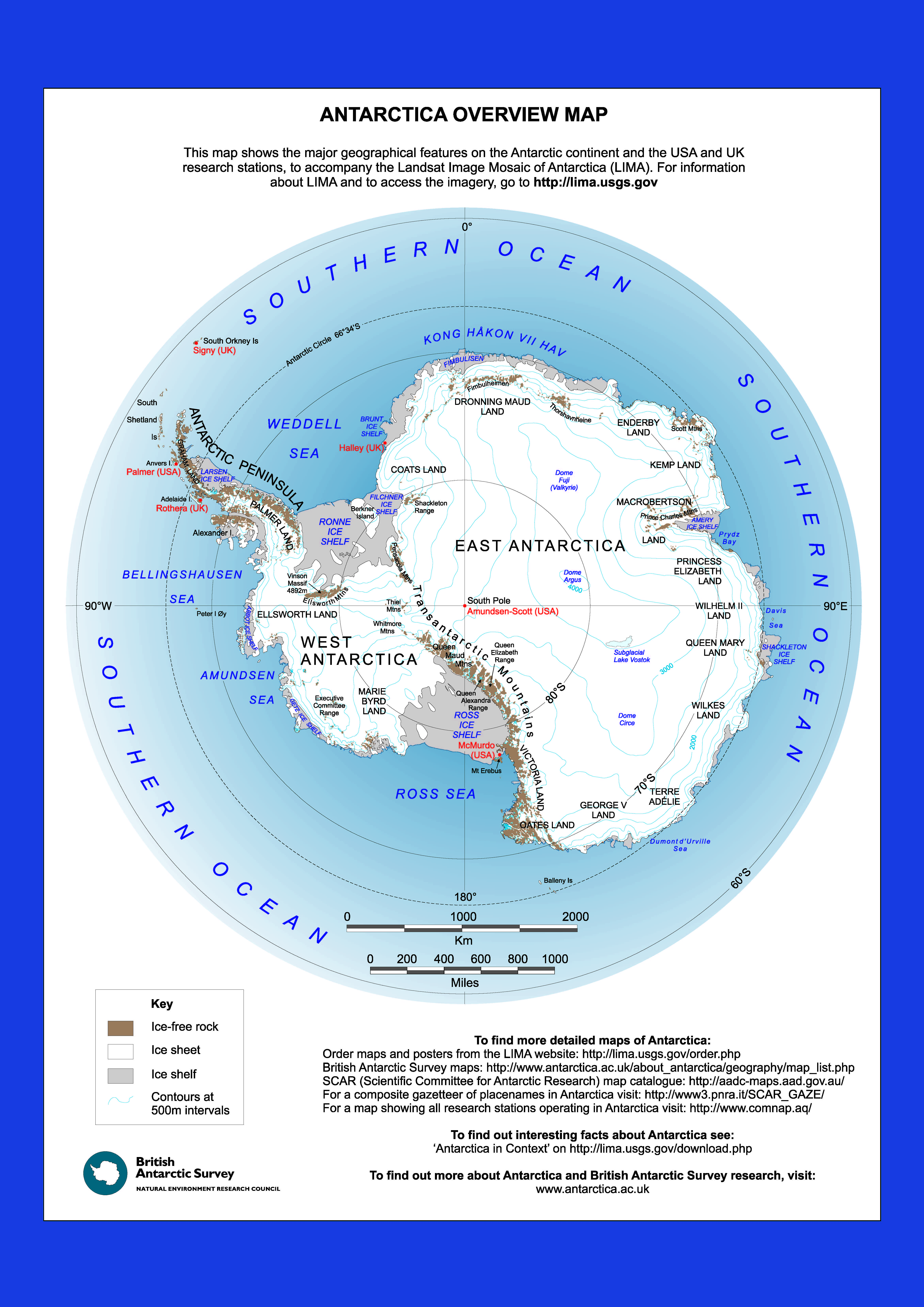 East and West: The Geography of Antarctica – Operation IceBridge