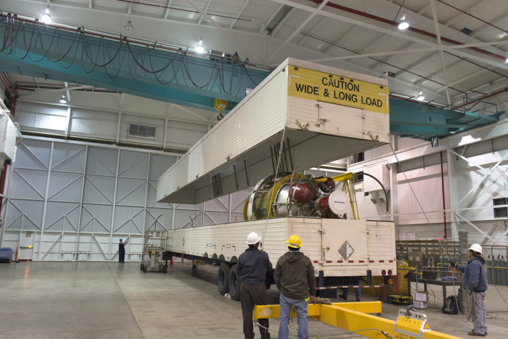 The Delta II second stage arrived at Vandenberg Air Force Base in California.