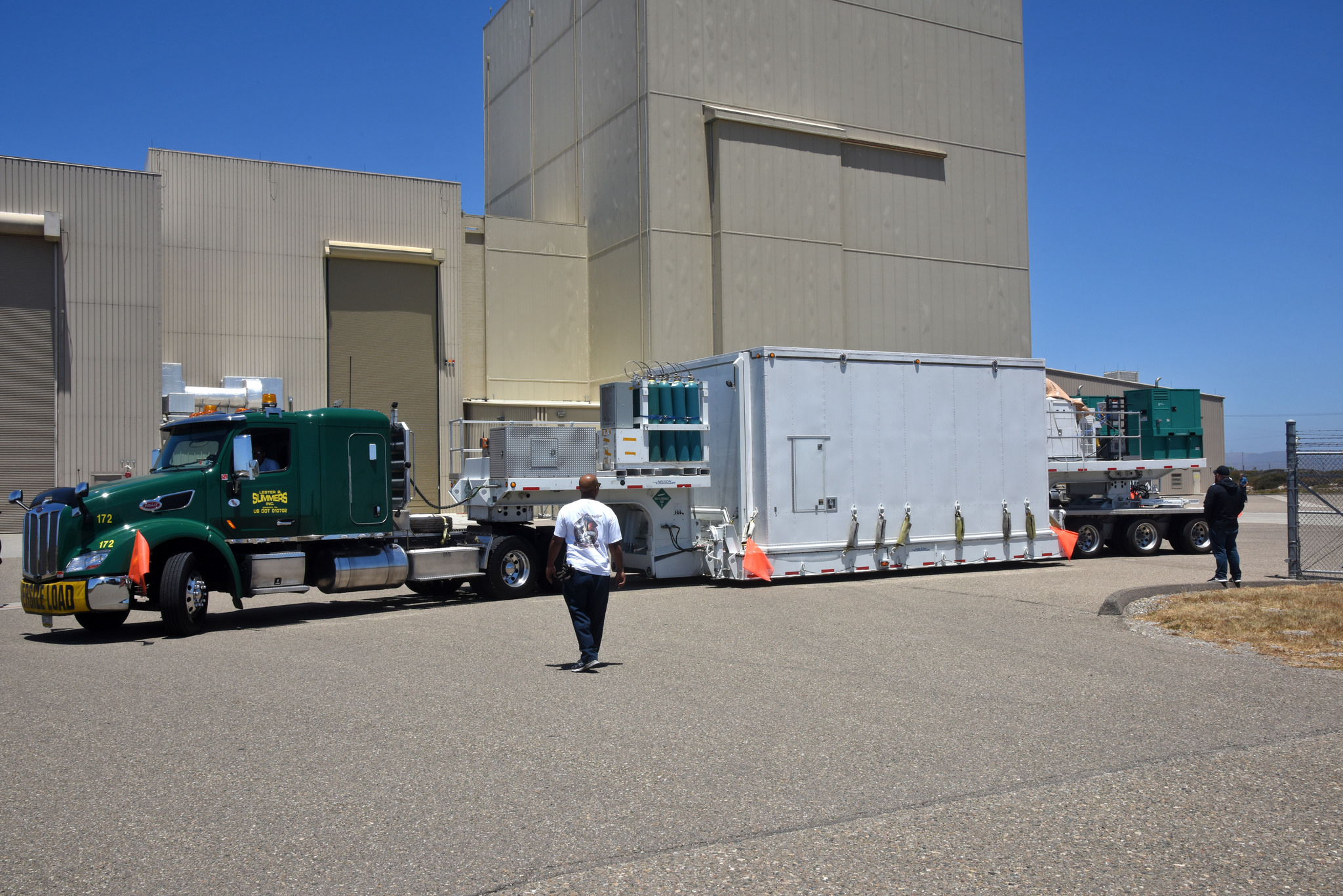 ICESat-2 arrives at Vandenberg Air Force Base in California.