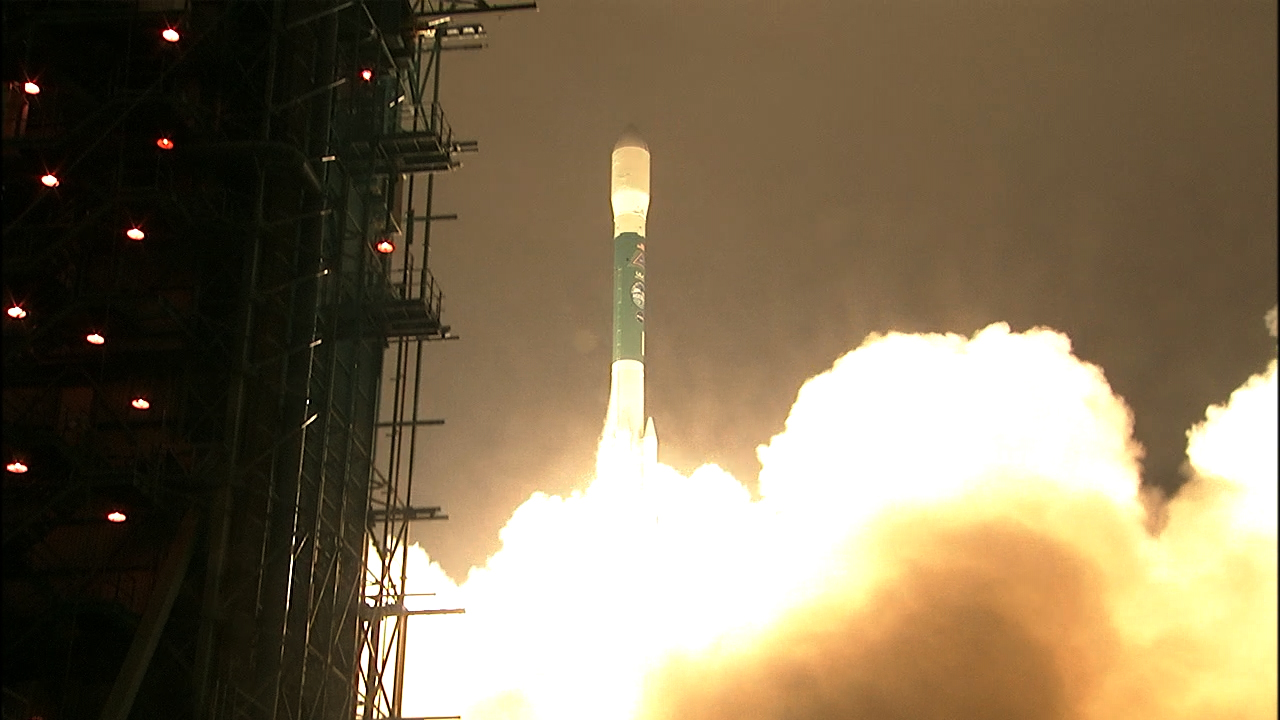 Liftoff of the United Launch Alliance Delta II rocket carrying NASA's ICESat-2 spacecraft. Liftoff occurred at 6:02 a.m. PDT (9:02 a.m. EDT) from Space Launch Complex-2 at Vandenberg Air Force Base in California.