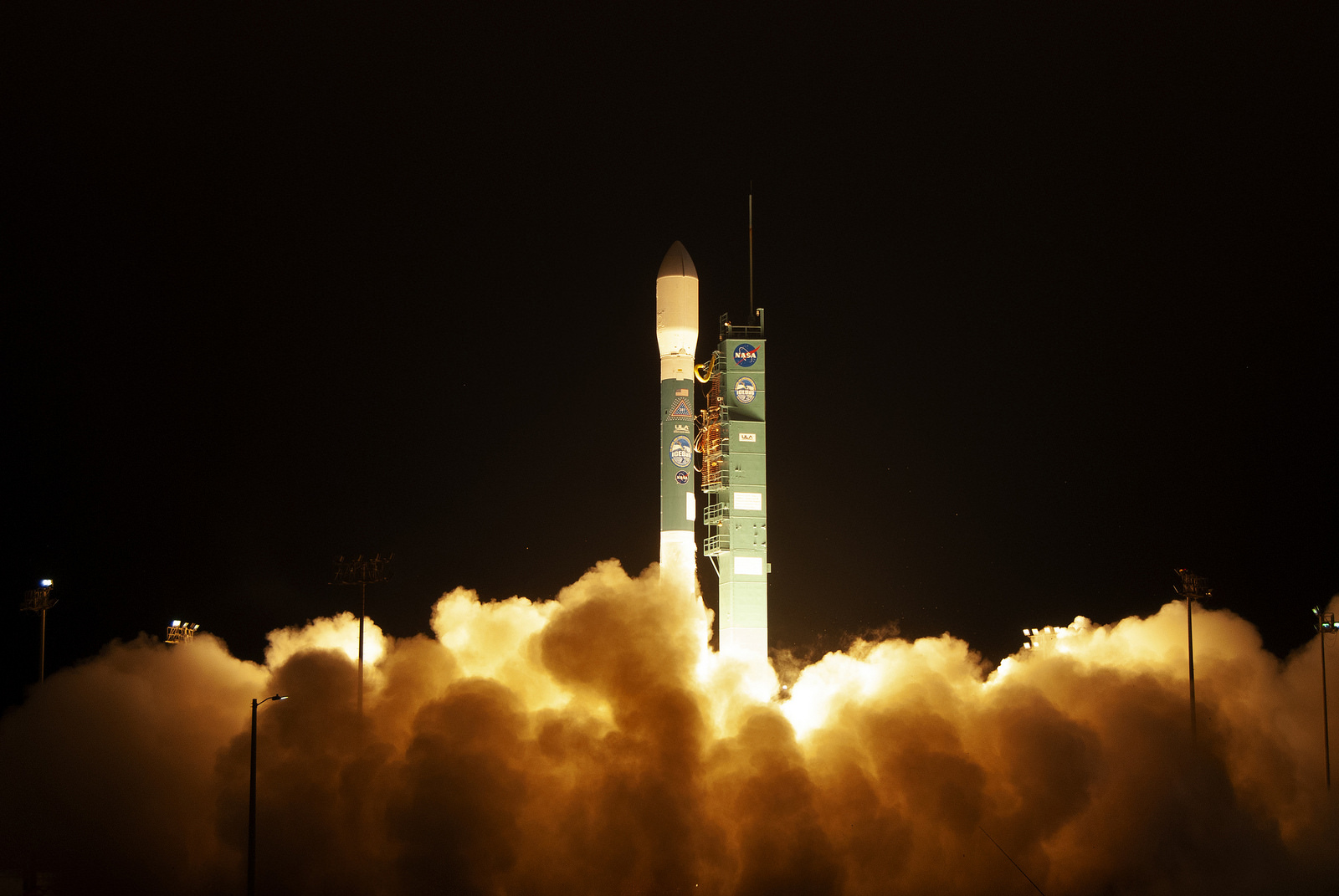 The final United Launch Alliance Delta II rocket lifts off from Space Launch Complex 2 at Vandenberg Air Force Base in California, on Sept. 15, 2018, carrying NASA's Ice, Cloud and land Elevation Satellite-2 (ICESat-2). Liftoff was at 9:02 a.m. EDT (6:02 a.m. PDT).