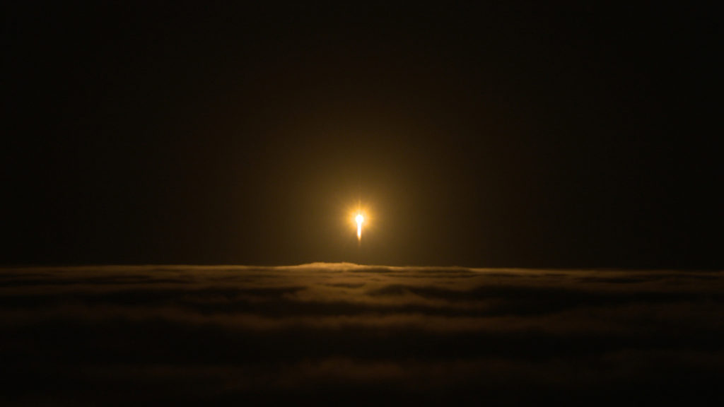 A United Launch Alliance Atlas V rocket lifts off from Space Launch Complex-3 at Vandenberg Air Force Base, California, carrying NASA's Interior Exploration using Seismic Investigations, Geodesy and Heat Transport (InSight) Mars lander. Liftoff was at 4:05 a.m. PDT (7:05 a.m. EDT).