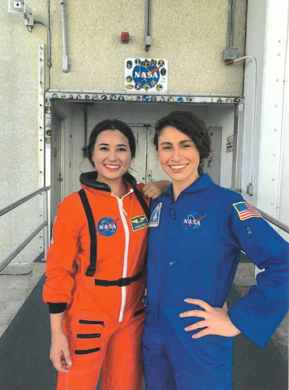 NASA Inters in flight suits at NASA Kennedy
