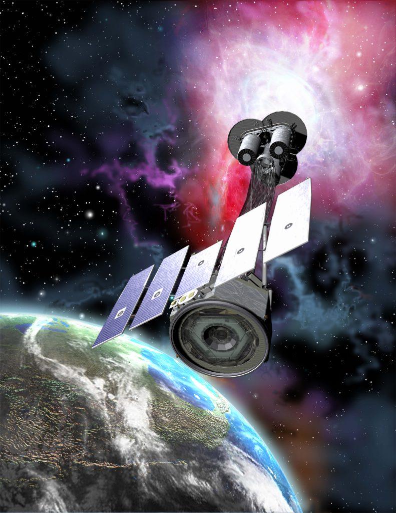 Artist rendition of NASA's IXPE