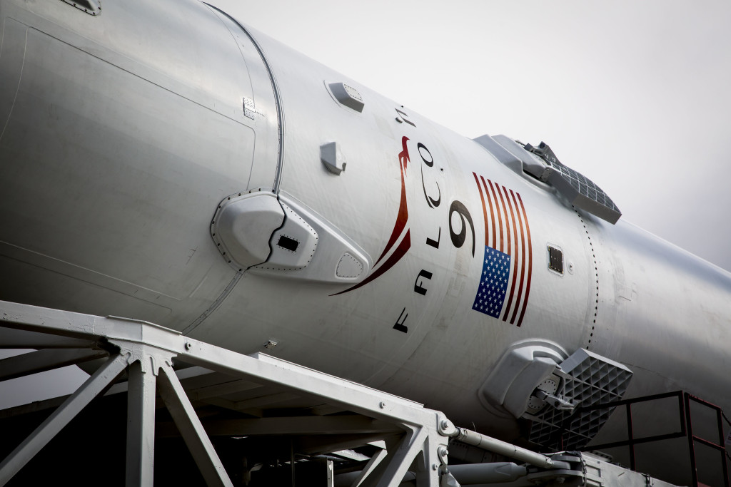 Jason-3/Falcon 9 rocket being rolled out to SLC-4 for launch on 1/17/16