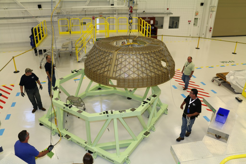 The first two domes that will form the pressure shell of the Structural Test Article, or STA, for Boeing's CST-100 spacecraft have arrived at NASA's Kennedy Space Center