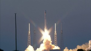 Liftoff of the SpaceX Falcon 9 rocket carrying DSCOVR