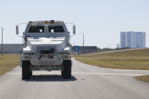 The MRAP emergency egress vehicle.