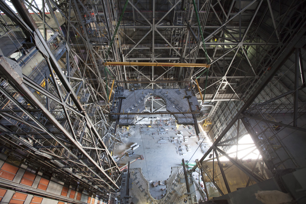 Platform K is installed in the Vehicle Assembly Building High Bay 3.