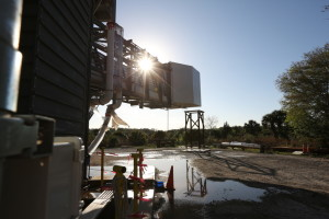 Photos of the Emergency Evacuation Water Test at the CCP Crew Access Arm in Oak Hill, for Boeing/ULA.