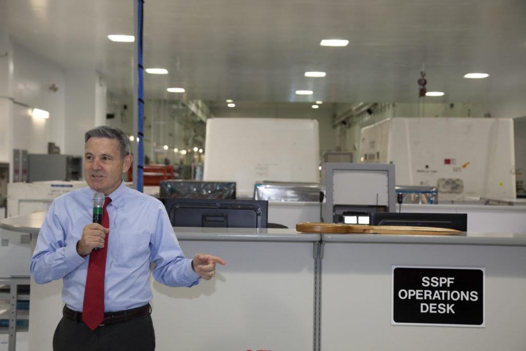 Operational upgrades are completed inside the SSPF, featuring Bob Cabana