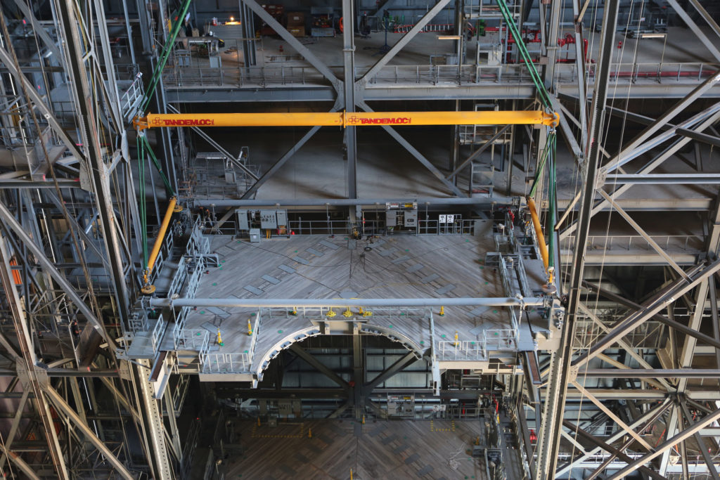 Platform C North is installed in VAB High Bay 3.