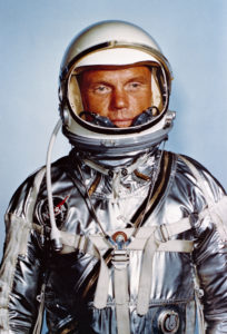 Astronaut John Glenn in his Mercury spacesuit