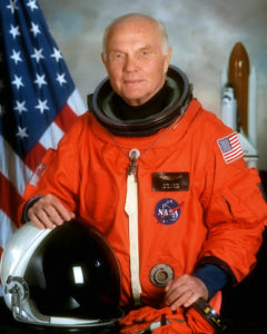 Astronaut and U.S. Senator John Glenn's official portrait for space shuttle mission STS-95.