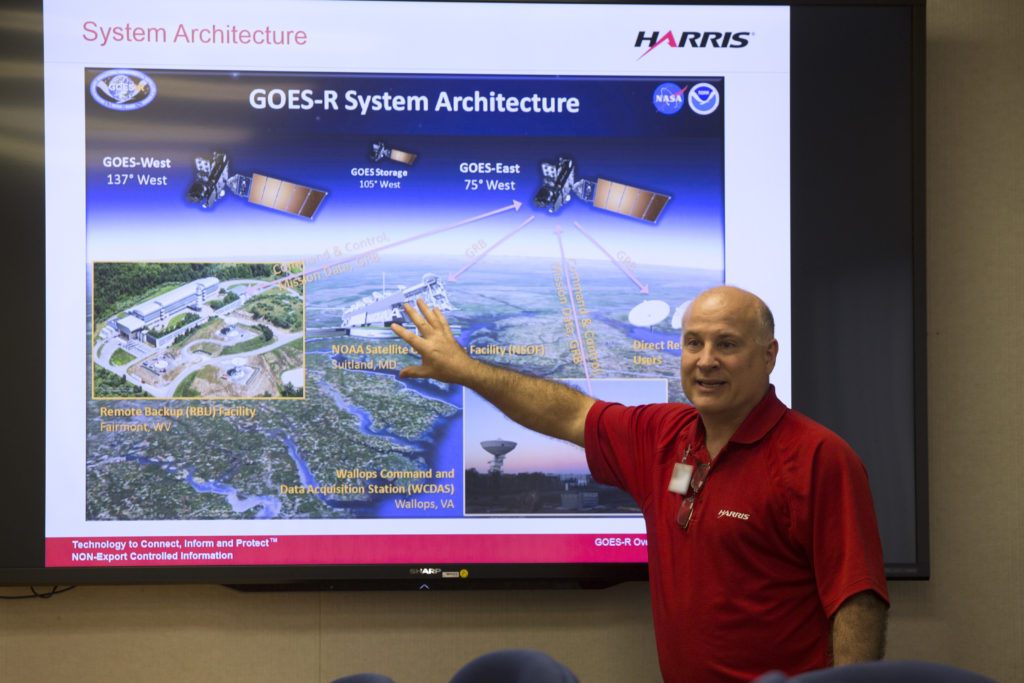 Harris Corp. presents during National Engineers Week events at Kennedy Space Center.