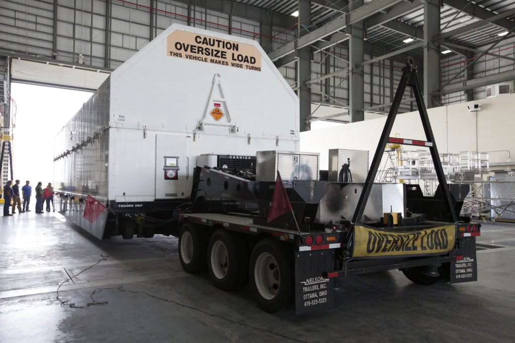 The ICPS for NASA's Space Launch System arrives in Florida.