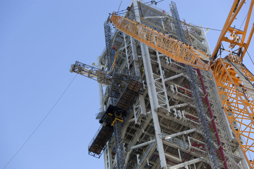 The OSMU is installed on the mobile launcher.