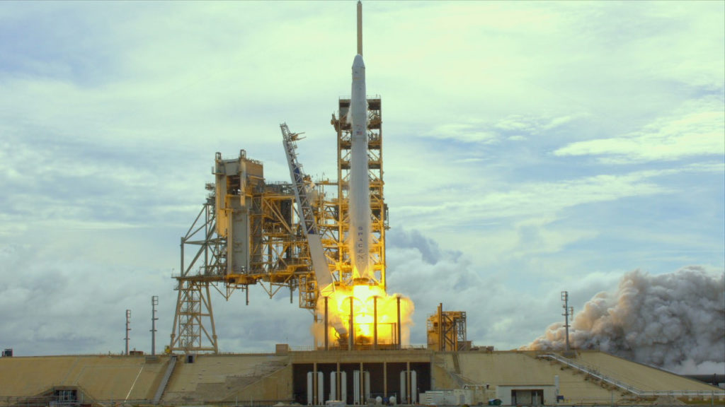 The SpaceX Falcon 9 rocket lifts off from Launch Complex 39A at NASA's Kennedy Space Center in Florida carrying a Dragon spacecraft packed with supplies for the International Space Station. This is the company's eleventh commercial resupply mission to the orbiting laboratory.