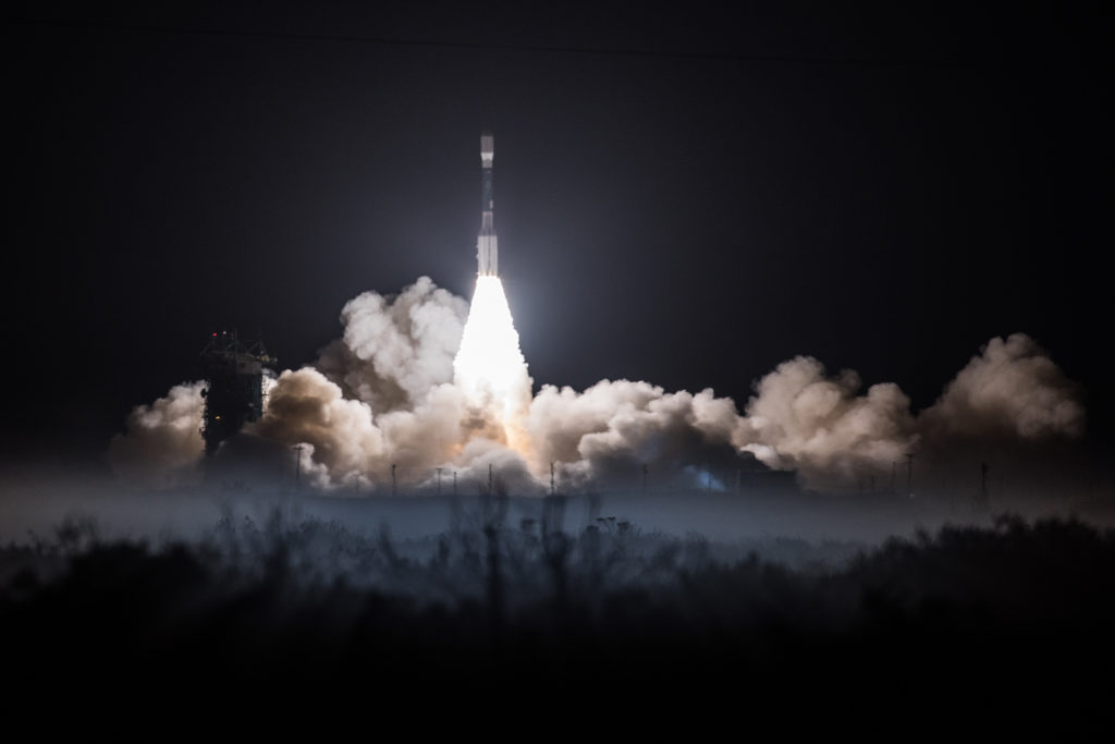 Liftoff of the United Launch Alliance Delta II rocket with NOAA's JPSS-1 satellite at 1:47 a.m. PST on Nov. 18 from Vandenberg Air Force Base in California.