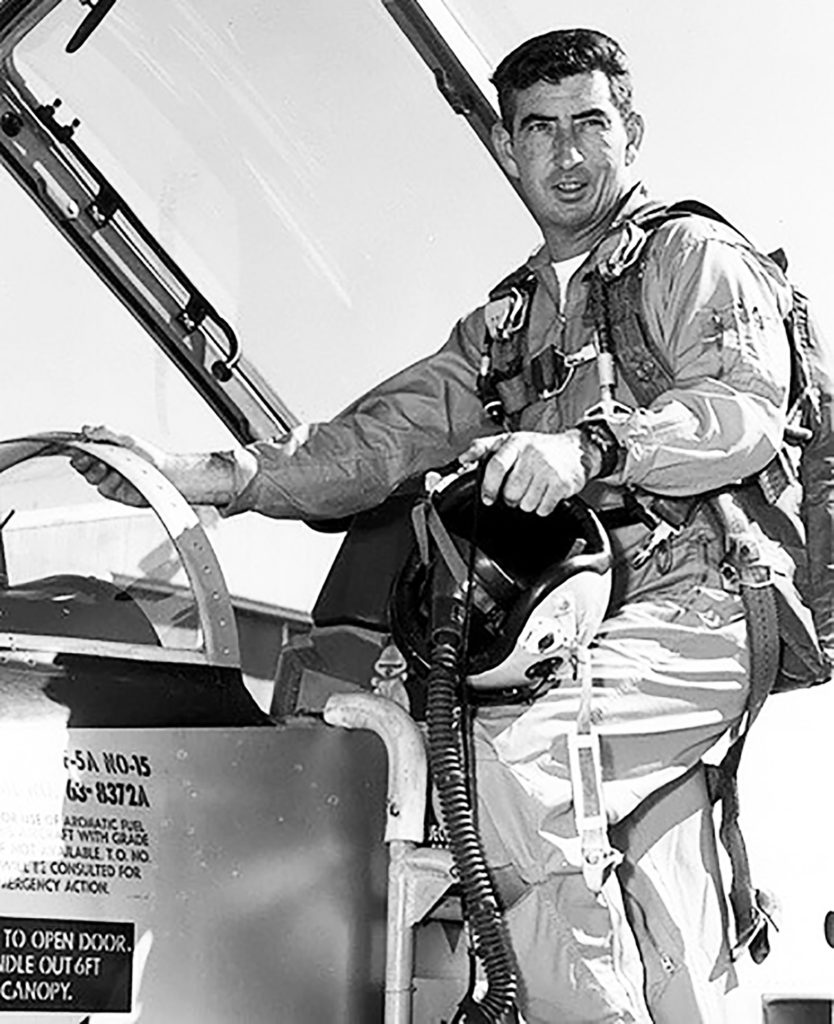 U.S. Air Force astronaut Mike Adams was an X-15 pilot who was among those selected to fly aboard the Manned Orbiting Laboratory, a military program involving a small, single-use space station.