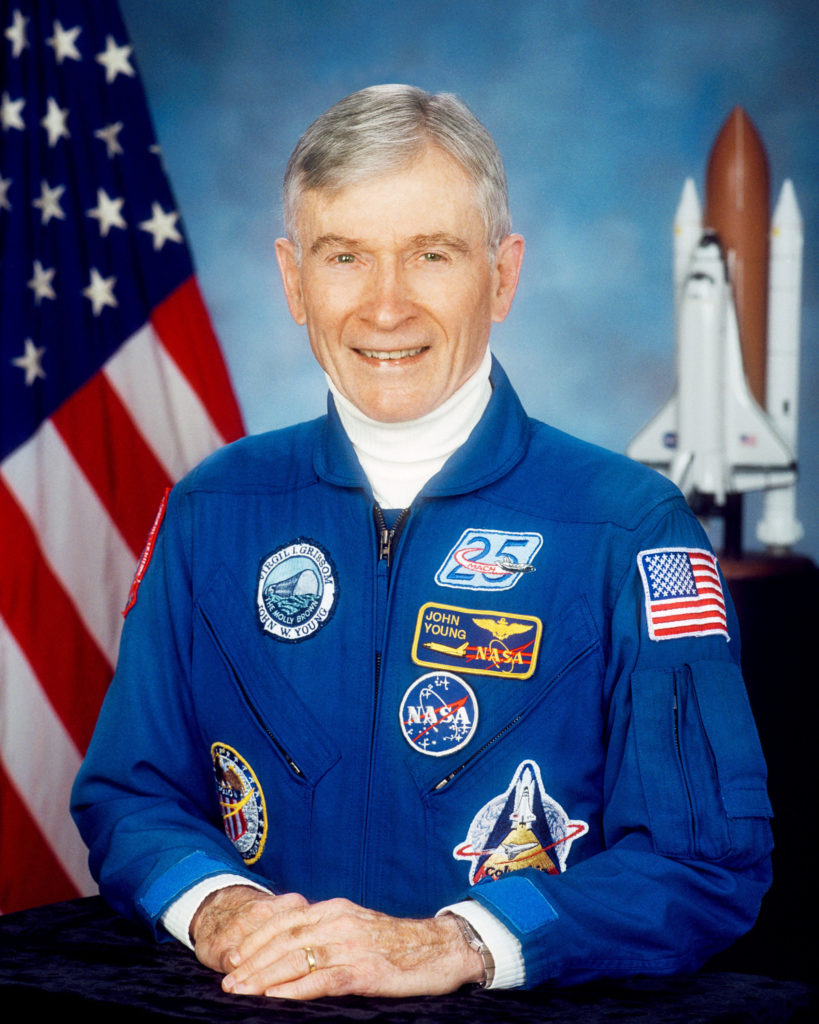 Gemini, Apollo and space shuttle astronaut John Young in a portrait taken in 2002. Photo credit: NASA/Robert Markowitz