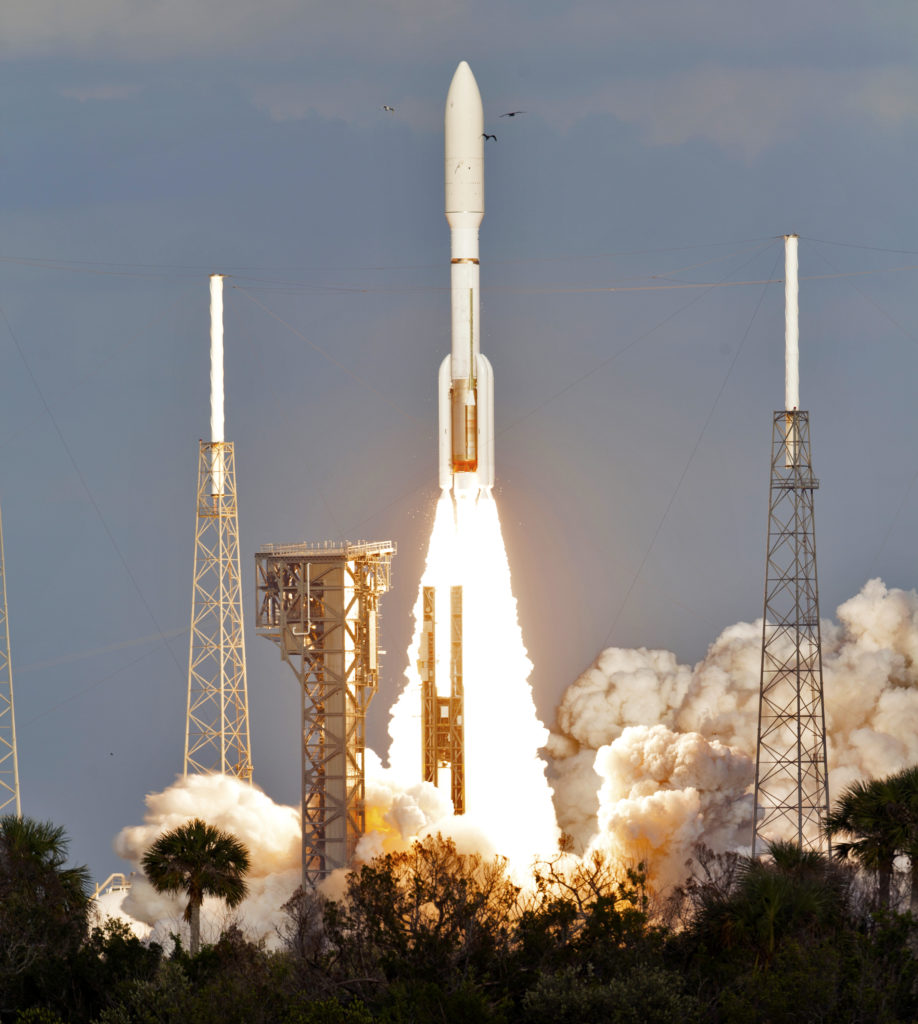 Atlas V Lift-off for GOES-S Mission