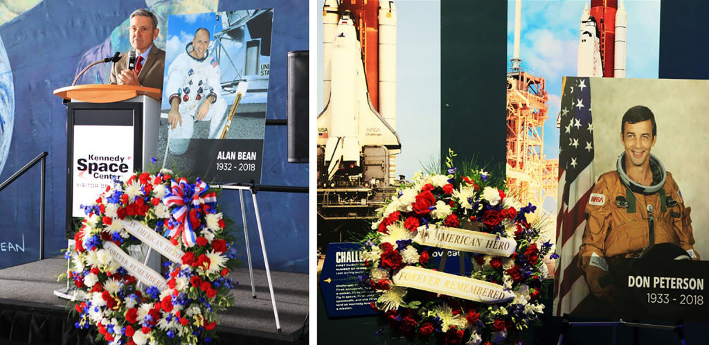 Alan Bean and Don Peterson Honored