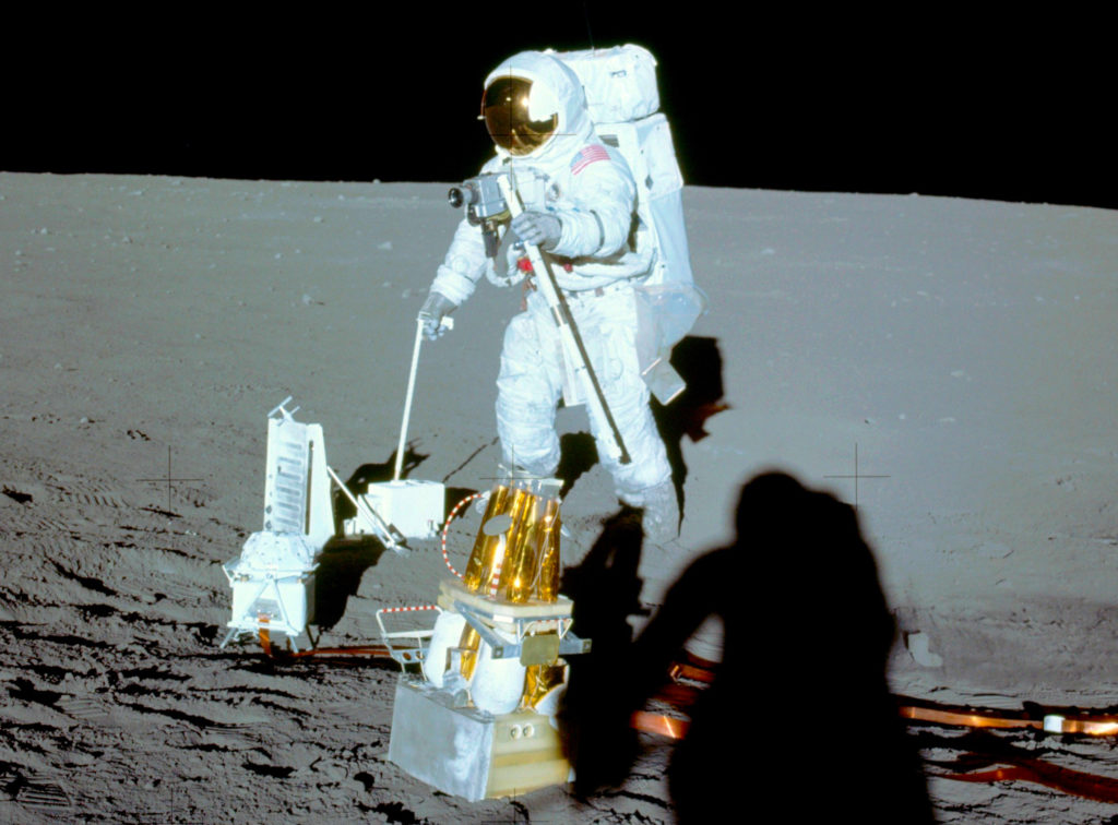 Alan Bean Deploys the Apollo Lunar Surface Experiments Package