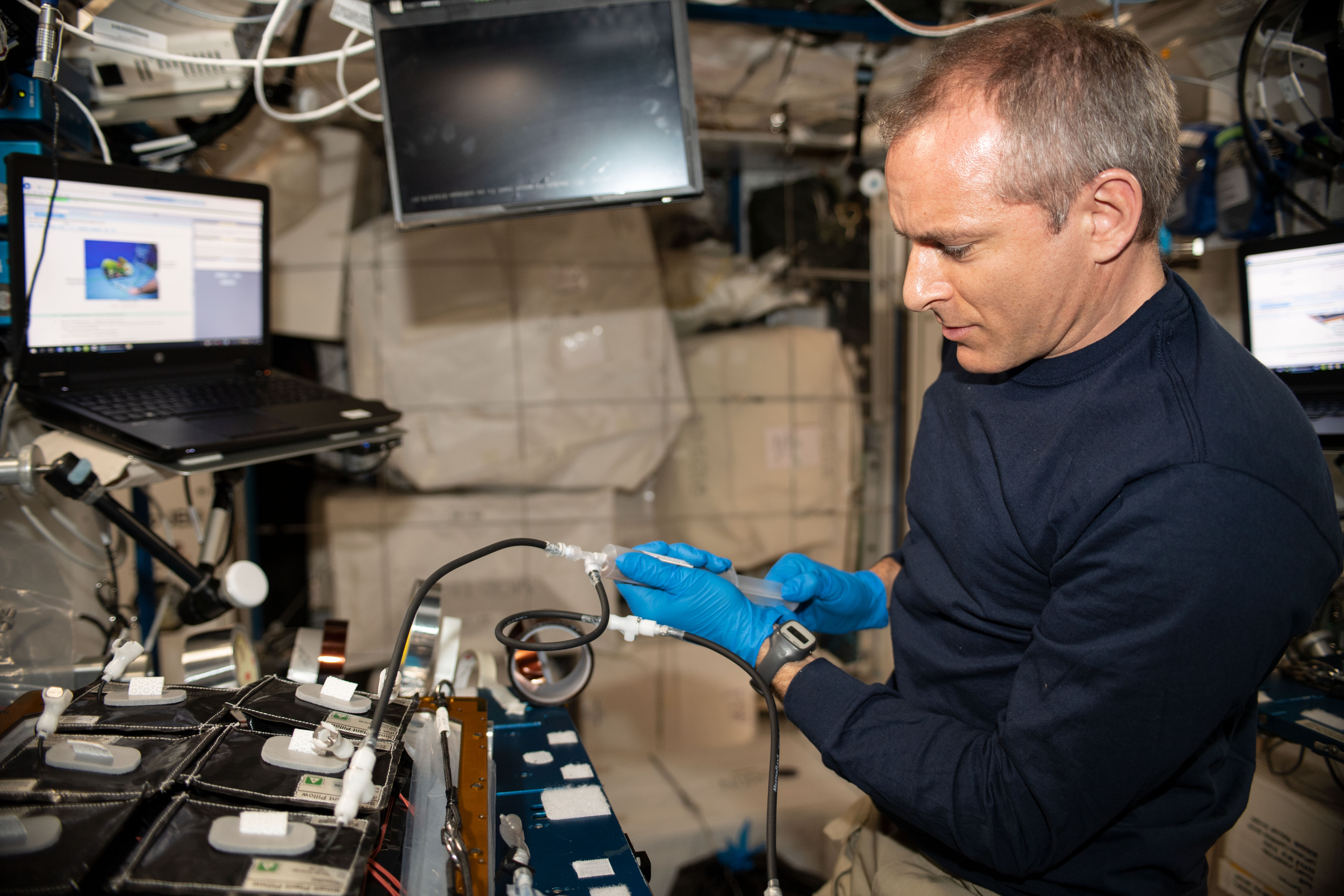 Canadian astronaut David Saint-Jacques began growing two new crops aboard the International Space Station on Saturday, March 9, 2019.