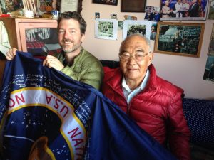Hintze with Kanccha Sherpa and NASA flag