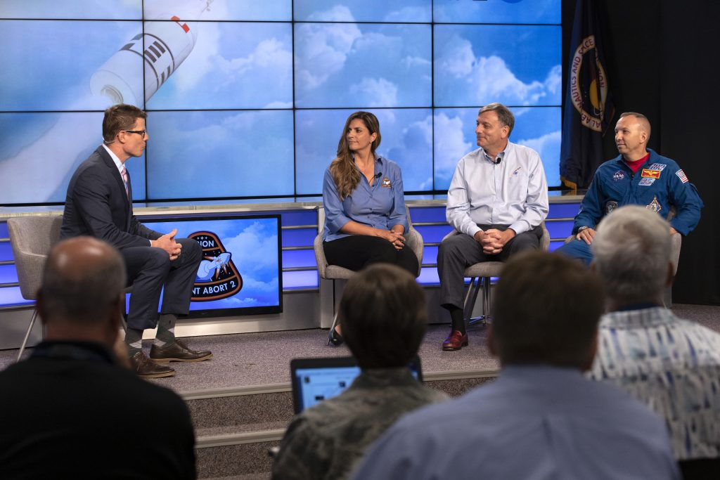 Prelaunch news conference for the Ascent Abort-2 flight test