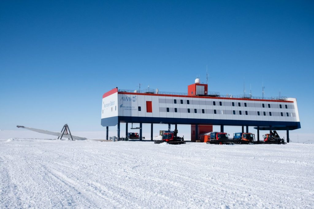 Neumayer III Station in Antarctica.