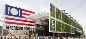 "Caption: The USA Pavilion is a 35,000 square foot space within Expo Milano's 3.6 million square foot sustainable ""smart city."" The building is a multi-level experience including a massive vertical farm that is harvested daily. Image courtesy of www.usapavilion2015.net"