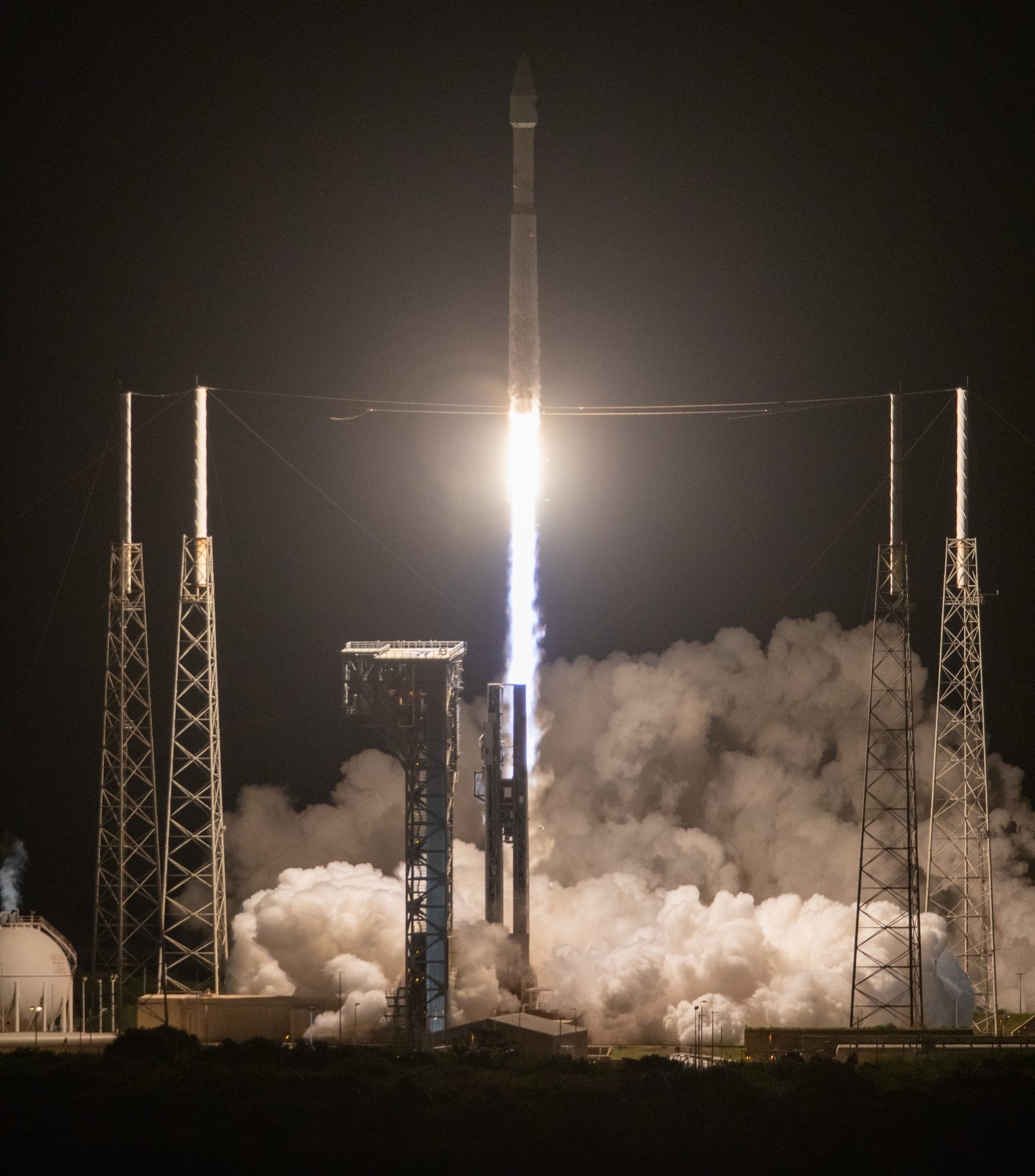 A United Launch Alliance V 401 rocket, with NASA's Lucy spacecraft atop, powers off the pad at Cape Canaveral Space Force Station's Space Launch Complex 41 in Florida at 5:34 a.m. EDT on Saturday, Oct. 16, 2021.