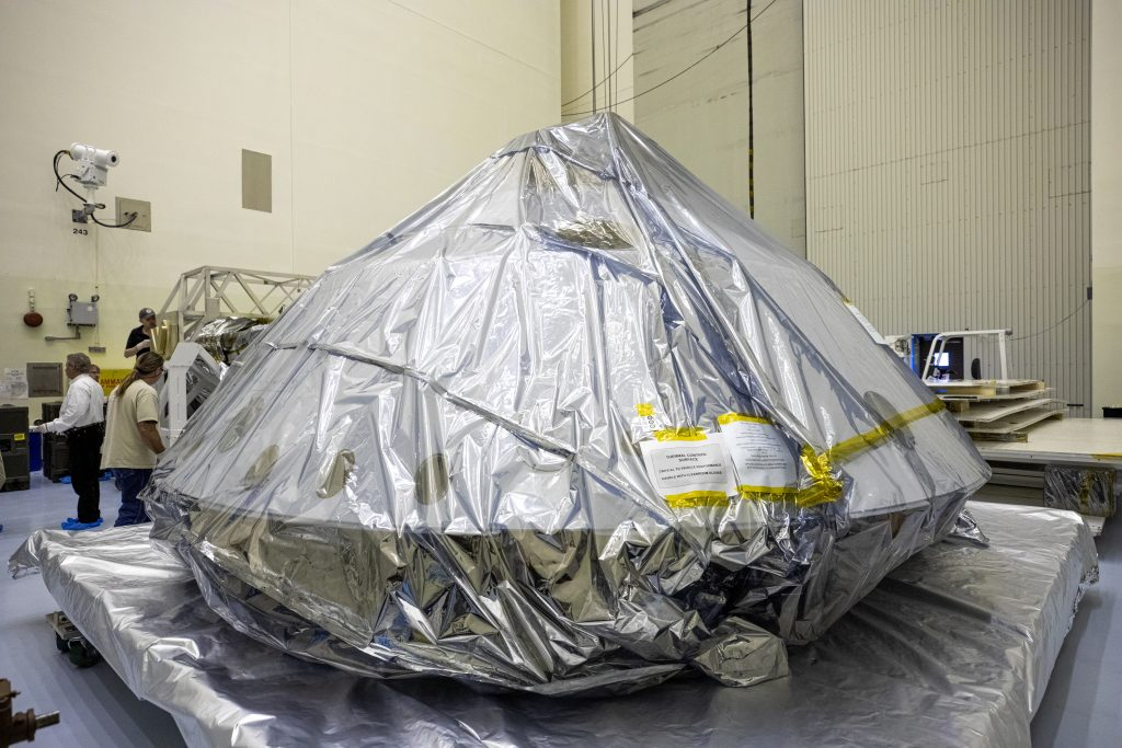The heat shield and back shell for the Mars 2020 rover