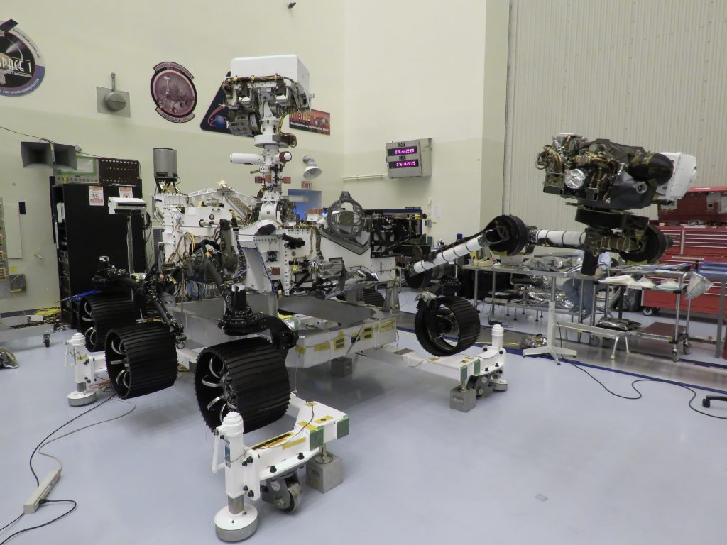 NASA's Mars Perseverance rover at Kennedy Space Center