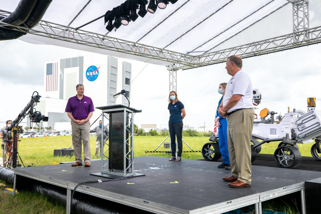 NASA Administrator's briefing for Mars 2020 Perseverance rover launch