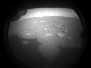 This is the first image NASA's Perseverance rover sent back