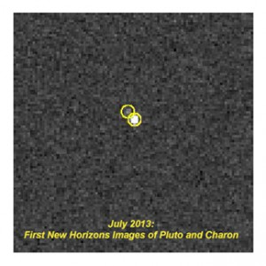 New Horizon's LORRI instrument spots Charon Jul 3, 2013 from 6AU away