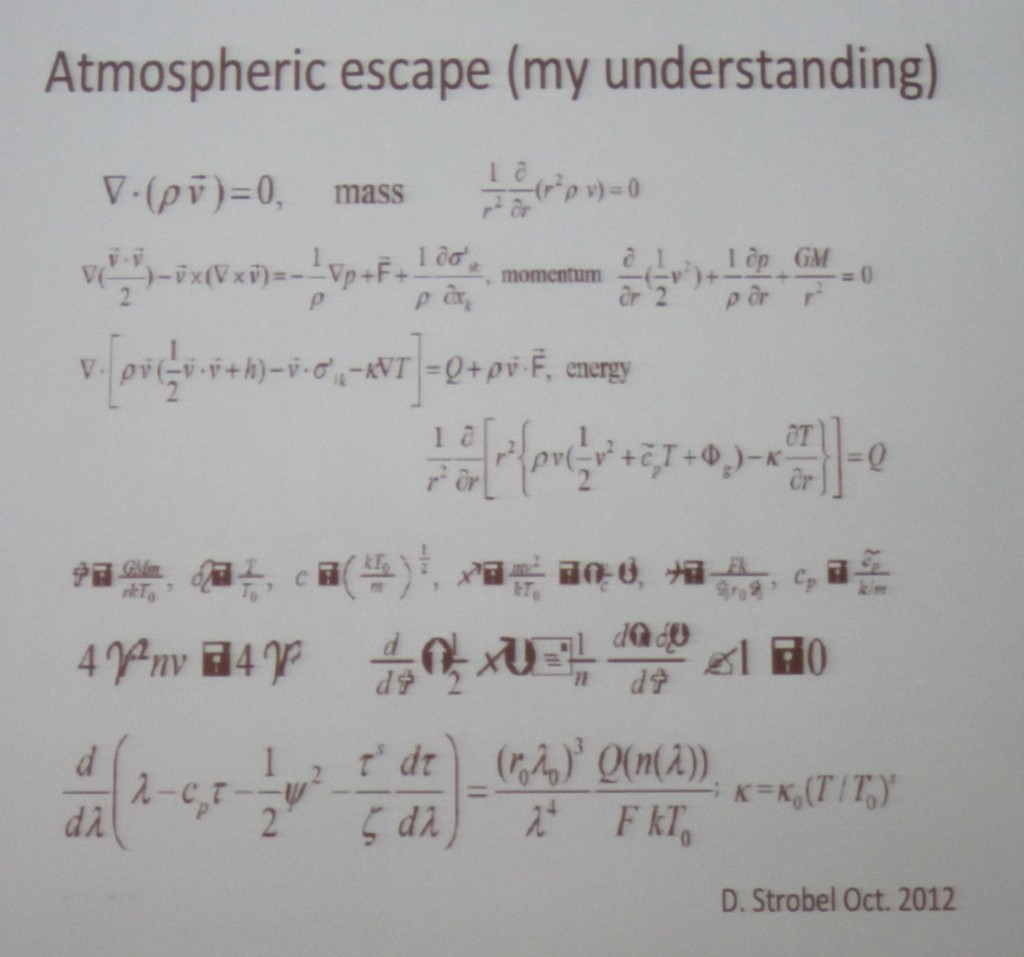 Atmosphere Escape Equations