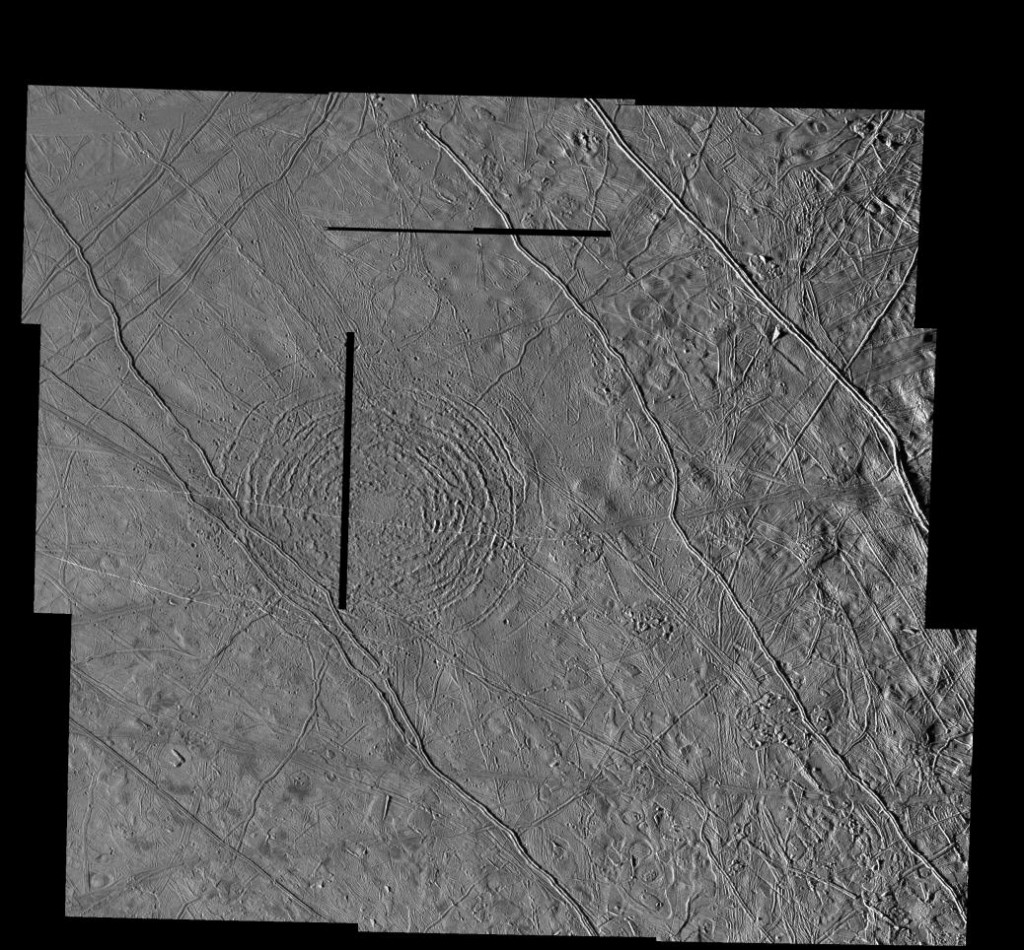 Tyre crater on Europa