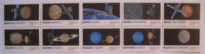 Pluto Not Yet Explored. US Stamp Series 1992