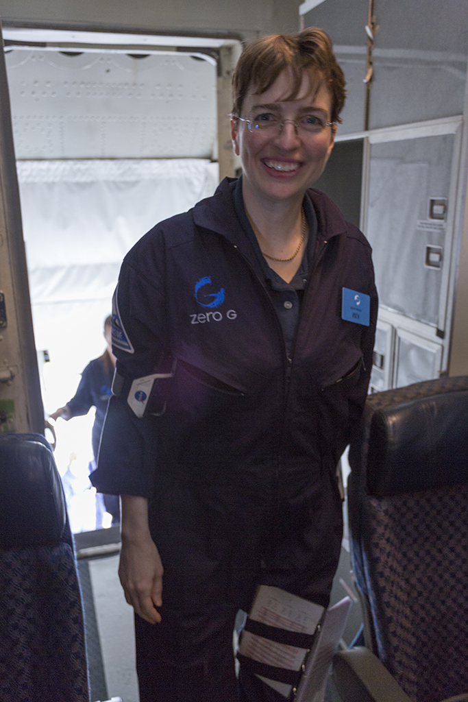 Author boarding plane
