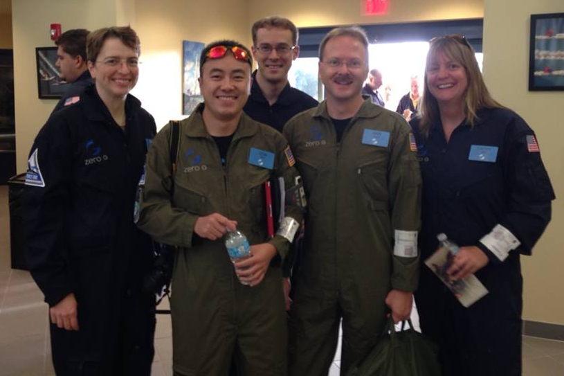 Team Photo Before Flight