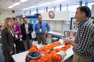 NASA Deputy Administrator Dava Newman visits NASA's Johnson Space Center in Houston June 8, 2015.