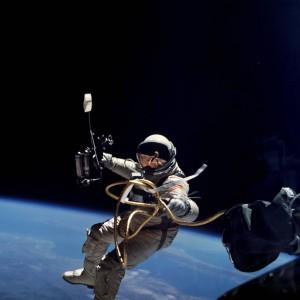 Ed White conducts America's first spacewalk