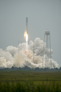 Launch of the Orb-2 mission of a Cygnus cargo spacecraft aboard an Antares rocket on July 13, 2014, from NASA's Wallops Flight Facility in Virginia.